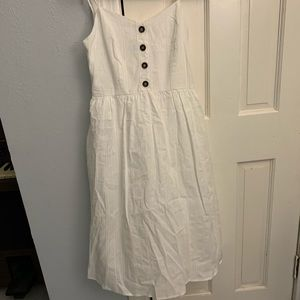 White midi dress size small